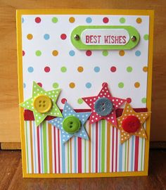 "** Scrap Paper Card ""Best Wishes"" @danasdabblingstudio"