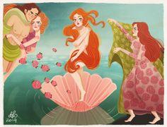 The Birth of Venus by Dixie Leota, via Behance