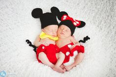 Mickey & Minnie Mouse Newborn Photo Props / Newborn by NonisNiche, $90.00