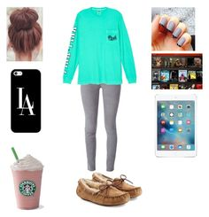 """""""my day in ✌"""" by pu11girl ❤ liked on Polyvore featuring Drome, Victoria's Secret, Casetify and UGG Australia"""
