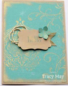 Stampin' Up! UK - Vintage Beautifully Baroque  decorative label punch, petite petals