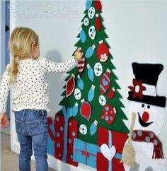 ideias de decoração natal em feltro - Pesquisa Google