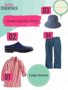 Spring Essentials: Great Garden Gear --> http://blog.hgtv.com/design/2015/03/27/spring-essentials-stylish-and-practical-garden-gear/?soc=pinterest