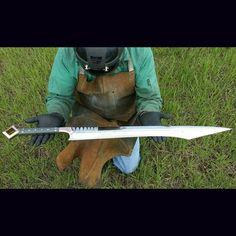 My offer unto thee #sword #swordmaking #zombiekiller #knifeporn #survival…