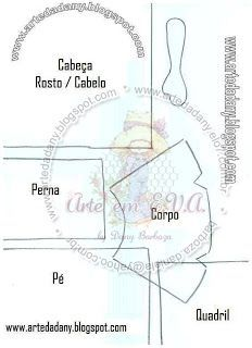Fofucha Talita - Molde 2 - Arte em E.V.A. by Dani Barboza