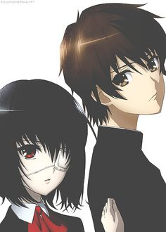 my fav horror anime Another! Kouichi Sakakibara & Mei Misaki look so good together! Manga Anime, Me Anime, I Love Anime, Kawaii Anime, Anime Art, Corpse Party, Vocaloid, Another Misaki Mei, Otaku