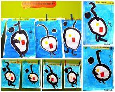 Inspired by Joan Miró Projects For Kids, Art Projects, Ecole Art, Kindergarten Art, Art Lessons Elementary, Creative Kids, Art Activities, Artist Art, Art Techniques