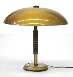 Große 60er Vintage Tischleuchte Gold von BomDesignFurniture auf Etsy