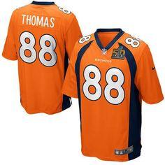 Men's Denver Broncos #88 Demaryius Thomas Orange 2016 Super Bowl 50 Bound Game Jersey