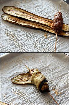 Patlıcan Sarmalı Şiş Kebap