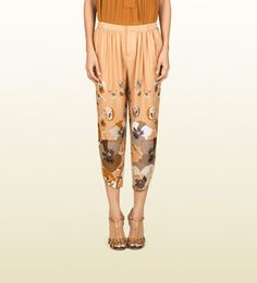 Gucci Pre-Fall 2012 Oshibana Printed Gathered Pants