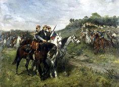 Le général de brigade Jean Auguste Margueritte mortellement blessé par une balle reçue dans la mâchoire lors de la charge de Floing (Bataille de Sedan) le 1er Septembre 1870.