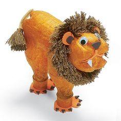 Brinquedos Artesanais - Leão de Garrafa Pet