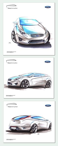 Ford Focus Sketches by Slavche.deviantart.com
