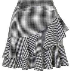 Miss Selfridge Black Gingham Ruffle Mini Skirt Frilly Skirt, Ruffle Skirt, Dress Skirt, Short Skirts, Mini Skirts, Mode Kimono, Skirt Outfits, Dress Patterns, African Fashion