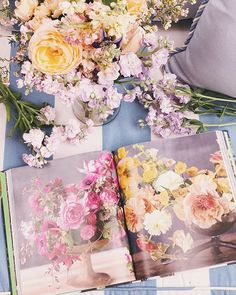 Learning the art of floral design via @tulipinadesign new book #colormefloral #saturday #springblooms #gardenroses #springcolors #weekendmoments