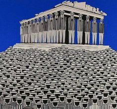 """Greece~~Γαιτης Γιαννης (Yannis Gaitis ) """" The psychology of the masses Modern Art Artists, Greece Painting, Greece Art, Street Art, Drawing Wallpaper, Art Paintings For Sale, Great Works Of Art, Psychedelic Art, Color Of Life"""