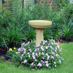 Keep Backyard Bird Baths and Fountains Clean | Home Depot Garden Club