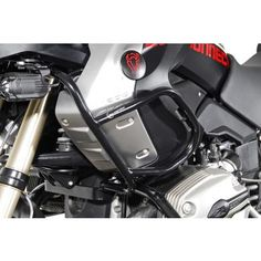 Crash bar enlargement Black powder-coated Suits the appearance of the motorcycle pipe diameter Included: 2 upper crash bar Steel Cage, Golf Bags, Bmw, Black, Black People
