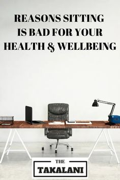 There is evidence emerging that sitting too much is bad for your health. Read the following article to figure out how to move more. #thetakalani #health #wellness Nutrition Tips, Fitness Nutrition, Health And Nutrition, Diet Tips, Health Tips For Women, For Your Health, Desk Yoga, Fitness Tracker App, Fitness Goals For Women