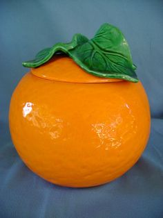 1 ORANGE COOKIE JAR METLOX CALIF USA POTTERY RARE NO RESERVE FRUIT | eBay