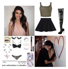 """""""Happy six months baby. ~Kelsey"""" by xx-us-anxns-xx ❤ liked on Polyvore featuring Ally Fashion, WithChic, Dolce&Gabbana, Kat Von D, Cartier, Sydney Evan, Charlotte Russe, Inouï and usanonstaken"""