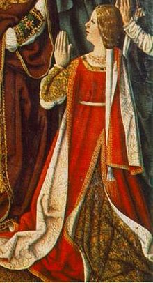 Isabella of Aragon. https://hemmahoshilde.wordpress.com/2015/09/19/isabella-of-aragon-kissing-cousins/ <--- You're welcome to read more about Isabelle of Aragon on my blog :).