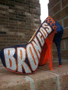 Denver Broncos custom heels by Akkustomz on Etsy, $180.00