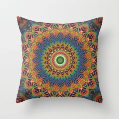 In the Mood for a Mandala Throw Pillow by Lyle Hatch - $20.00