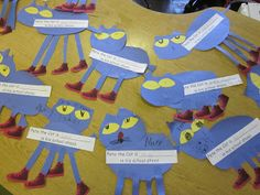 verb activity to go with Pete the Cat Rocking in My School Shoes
