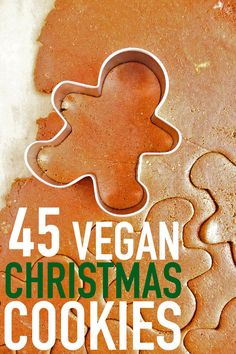 45 Vegan Christmas Cookie recipes for all your holidays this year. From gingerbread to thumbprints, you'll find everything you need.