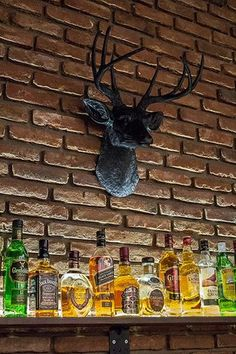 We love the way that one of our clients has used The Ignatius deer head to decorate their bar space! Fake Walls, Deer Species, Black Deer, Stag Deer, Antler Art, Faux Taxidermy, Animal Heads, Wedding Humor, Western Furniture