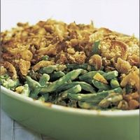 Green bean casserole with goat cheese and balsamic vinegar. Made this for Thanksgiving. Pretty good, but if I tried again, I would incorporate some cream to make it more of a gratin style dish.