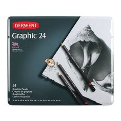 This 24-piece graphite pencil set contains a large variety of grades; enough to satisfy the needs of the designer and draftsperson.