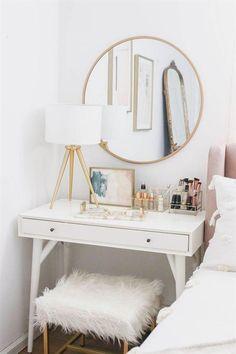 Bedroom Makeover Reveal – Money Can Buy Lipstick - decoration bedroom Pink Bedroom Decor, Simple Bedroom Decor, Decoration Bedroom, Cozy Bedroom, Modern Bedroom, Stylish Bedroom, Contemporary Bedroom, Girls Bedroom, Decor Room