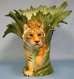 Franz Porcelain Tiger Vase