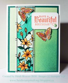 """Stampin Along With Heidi: WWC165 - Tenia's """"All About Occasions"""" Challenge"""