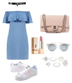 """Missing summer"" by manon-bdm on Polyvore featuring mode, Warehouse, adidas Originals, Chanel, Fallon, Yves Saint Laurent, Christian Dior, Charlotte Russe et summerstyle"