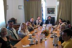 Με ομάδα 10 έγκριτων ρώσων δημοσιογράφων, συναντήθηκε ο Πρόεδρος και Διευθύνων Σύμβουλος του ΟΛΗ