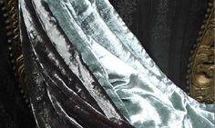 Mantas y plaid - Plaid Terciopelo, Adriana Barnils - Plaid terciopelo, colores antracita, acqua, vison, berenjena