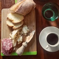 Good breakfast begins with Parmigiano-Reggiano and a cup of espresso :) Good day to you! - Instagram by natalikkaru