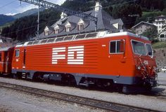 HGe 4/4 II 104 (Foto: Manfred Möldner) Bbc, Swiss Railways, Vehicles, Trains, Photos, Locomotive, Rolling Stock, Photo Illustration, Vehicle