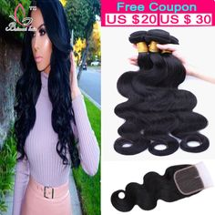 8A Brazilian Virgin Hair With Closure 3 Bundles Deal Brazilian Body Wave With Lace Closure Cheap Human Hair Weave And Closure http://jadeshair.com/8a-brazilian-virgin-hair-with-closure-3-bundles-deal-brazilian-body-wave-with-lace-closure-cheap-human-hair-weave-and-closure/ #HairWeftClosure(Bang)