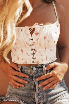 Out From Under Esmeralda Smocked Bra Top - Outfits Trends Teen Fashion Outfits, Mode Outfits, Girl Outfits, Party Outfits, 50 Fashion, French Fashion, Fashion Styles, Womens Fashion, Fashion Tips