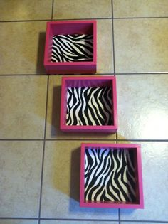 Easy DIY - add small Michaels picture frames or even flowers to the backs? Either way, this has so much potential! Zebra Print Bedroom, Zebra Bedrooms, Girls Bedroom, Bedroom Decor, Bedroom Ideas, Teen Girl Bedding, My New Room, My Room, Zebra Decor