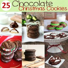 Christmas Cookie Recipes | 25 Chocolate Christmas Cookie Recipes - Crazy Little Projects