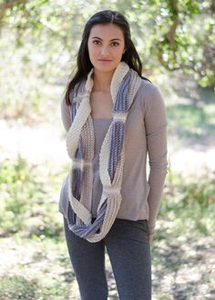 Crochet Challah Infinity Scarf by PamPowersKnits on Etsy