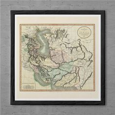 ANTIQUE PERSIA MAP  - Vintage Map of the Persia 1799  - Professional Reproduction - Persian Travel Poster Persia Map Print Ancient Persia