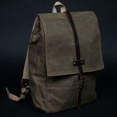 Archival Rucksack Tan Waxed Twill at The Lodge