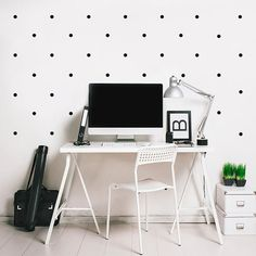 Polka dots Wall decal / Wall Black Dots Vinyl by @Made of Sundays on #etsy